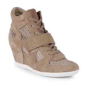 Ash Bowie Mesh Suede Wedge Sneakers